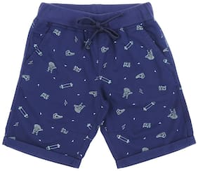 Pantaloons Junior Boy Printed Shorts & 3/4ths - Blue