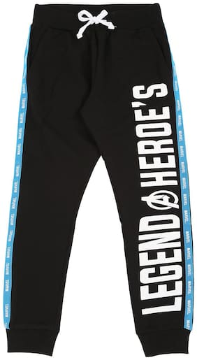 Pantaloons Junior Boy Cotton Track pants - Black