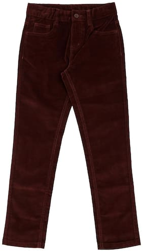 Pantaloons Junior Boy Solid Trousers - Brown