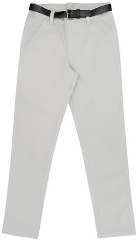 Pantaloons Junior Boy Solid Trousers - Grey
