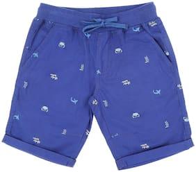 Pantaloons Junior Boy Printed Shorts & 3/4ths - Blue