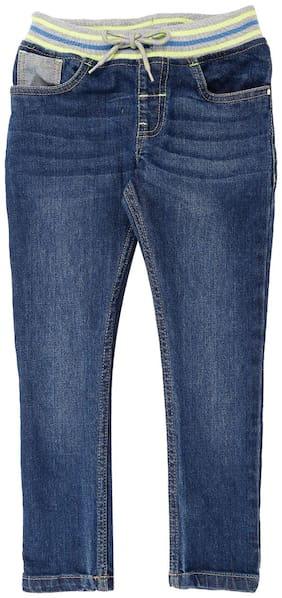 Pantaloons Junior Cotton Solid Basic For Boy Color Blue