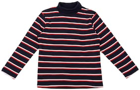 Pantaloons Junior Boy Cotton Striped Sweatshirt - Blue