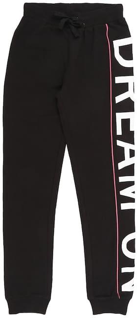 Pantaloons Junior Girl Cotton Track pants - Black