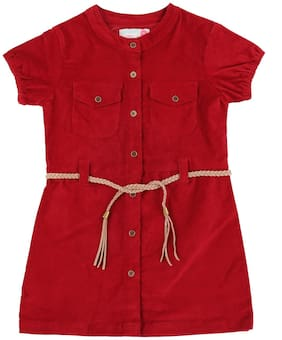 Pantaloons Junior Girl Cotton Solid Top - Red