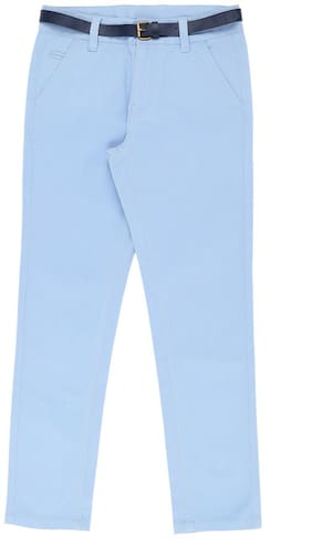 Pantaloons Junior Boy Solid Trousers - Blue