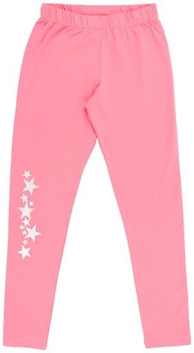 Pantaloons Junior Cotton blend Printed Leggings - Pink