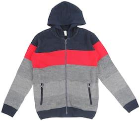 Pantaloons Junior Boy Acrylic Colorblocked Winter jacket - Multi