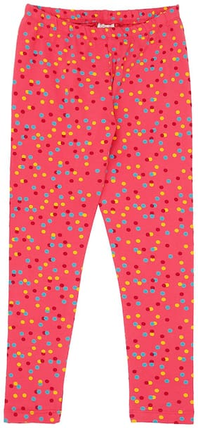 Pantaloons Junior Cotton Polka dots Leggings - Pink