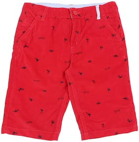 Pantaloons Junior Shorts For Boys (Red)