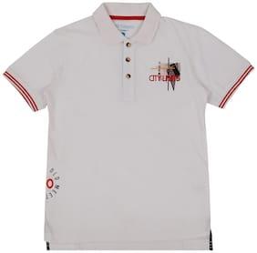 Pantaloons Junior Boy Cotton Solid T-shirt - White