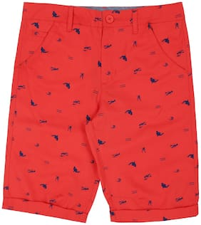 Pantaloons Junior Boy Printed Shorts & 3/4ths - Red