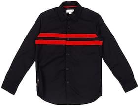 Pantaloons Junior Boy Cotton Printed Shirt Black