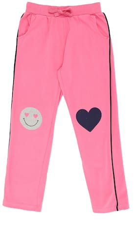 Pantaloons Junior Girl Cotton Track pants - Pink