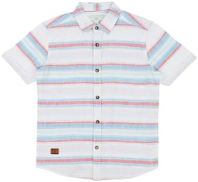 Pantaloons Junior Boy Cotton Striped Shirt Multi