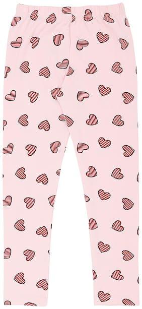 Pantaloons Junior Cotton Printed Leggings - Pink