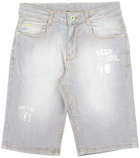 Pantaloons Junior Boy Solid Shorts & 3/4ths - Grey