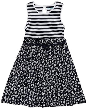 Pantaloons Junior Blue Cotton Sleeveless Knee Length Princess Frock ( Pack of 1 )