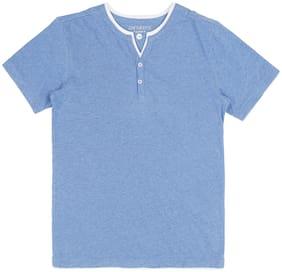 Pantaloons Junior Boy Cotton Solid T-shirt - Blue