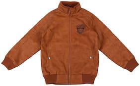 Pantaloons Junior Boy Polyester Solid Winter jacket - Brown