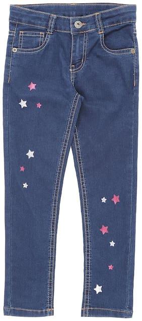 Pantaloons Junior Basic Straight fit Jeans for Girls - Blue