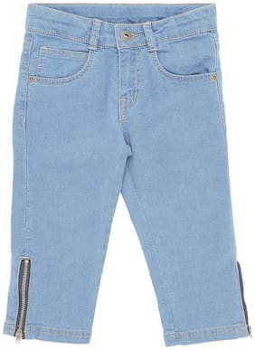 Pantaloons Junior Basic Straight fit Jeans for Girls - Blue