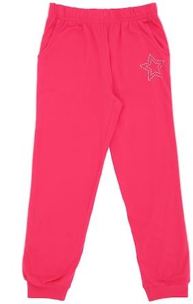 Pantaloons Junior Girl Cotton Track pants - Pink