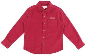 Pantaloons Junior Boy Cotton Solid Shirt Red