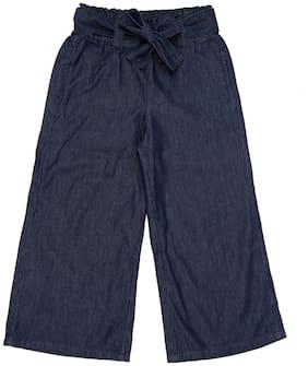 Pantaloons Junior Girl Cotton Trousers - Blue