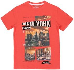 Pantaloons Junior Boy Cotton Printed T-shirt - Red