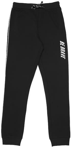 Pantaloons Junior Boy Cotton Track pants - Black
