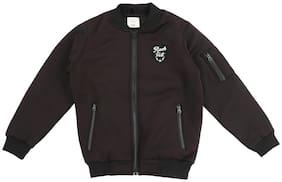 Pantaloons Junior Boy Polyester Solid Winter jacket - Black