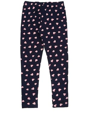 Pantaloons Junior Cotton Printed Leggings - Blue