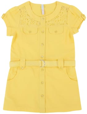 Pantaloons Junior Girl Cotton Solid Top - Yellow