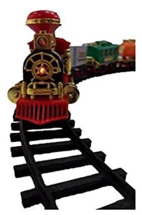 Param Battery Operated Choo Choo Classical Toy Train Set with Light ,Sound & Smoke