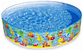 Param Children Kids Intex Snap Set Paddling Water Fun Pool - 8 feet (Colour & Design May Vary)