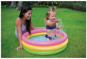Param Intex Inflatable Baby Pool, Multi Color (3-feet)