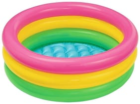 Param Intex Inflatable Baby Pool, Multi Color (2-feet)