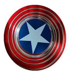 Parishi & WCaptain America Shield Metal Hand Spinner Fidget Stress Reducer Anti Anxiety for Children / Adults