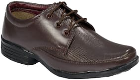 SIM STYLE Brown Formal shoes For Boys