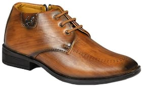 SIM STYLE Tan Formal shoes For Boys