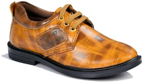 SIM STYLE Brown & Tan Formal shoes For Boys