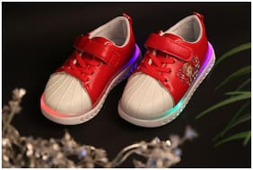 PASSION PETALS Red Girls Casual Shoes