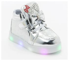PASSION PETALS Grey Casual Shoes For Girls