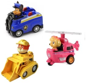Paw Patrol Rescue Vehicles (Set of 3 Chase, Rubble, Skye)