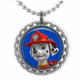 Paw Patrol Silver Bottle Cap Pendant Necklace, Free 3 Day Shipping