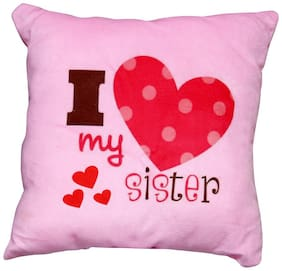 PawkyKids Lovesister Cotton Quotes Cushion