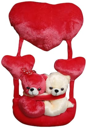 PAWKYKIDS Cream & Red Teddy Bear - 50 cm
