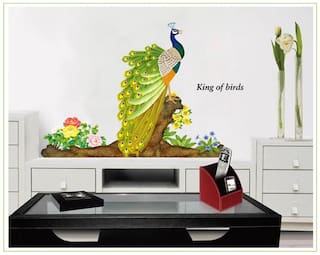 Peacock PVC Vinyl Large Wall Sticker