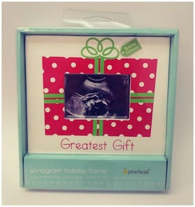 """Pearhead Greatest Gift """"Special Delivery"""" Sonogram Holiday Frame NIB"""